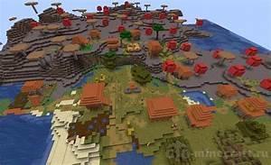 Village In A Mushroom Biom Seed For Minecraft 1 14 4  1 14