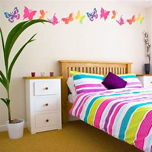 Cute butterfly bedroom wall decal mural ideas for teen