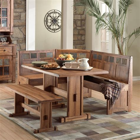 sunny designs sedona  piece breakfast nook set dining