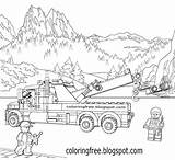 Lego Coloring Pages Printable Clipart Colouring Truck Legoland Mining Colour Planet Drawing Road Minifigure Space Breakdown Vehicle Minifigures Volcano Activities sketch template