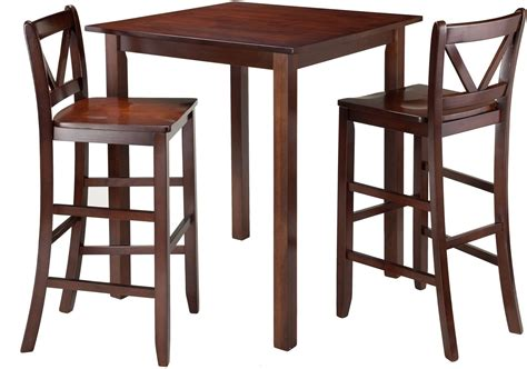 parkland antique walnut square pub table from winsomewood