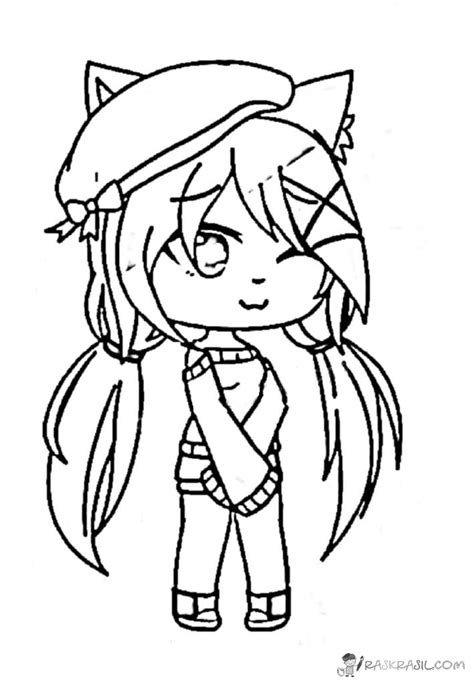 gacha life anime character coloring pages edition theseacroft