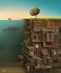 Surreal Worlds Digitally Painted by Gediminas ...