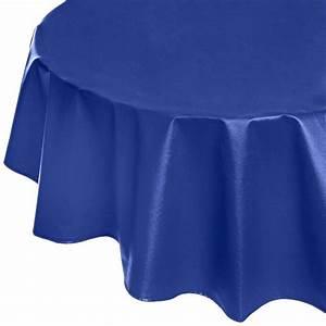 Nappe Enduite Au Mètre : nappe enduite ronde ou ovale unie bleu royal ~ Teatrodelosmanantiales.com Idées de Décoration