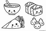 Coloring Kawaii Food Pages Printable Chinese Print sketch template