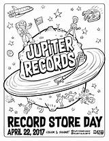 Coloring Record Pages Records Jupiter Getcolorings Mcillustrator Printable sketch template