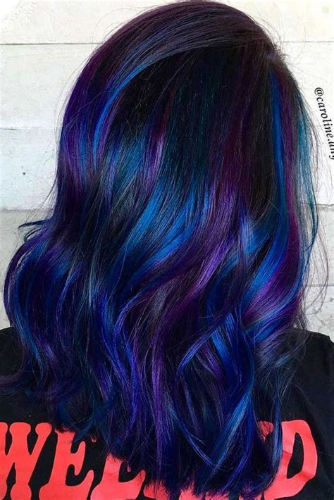 Coloring Hair Blue by 50 Fabulous Purple And Blue Hair Styles Hair Makeup