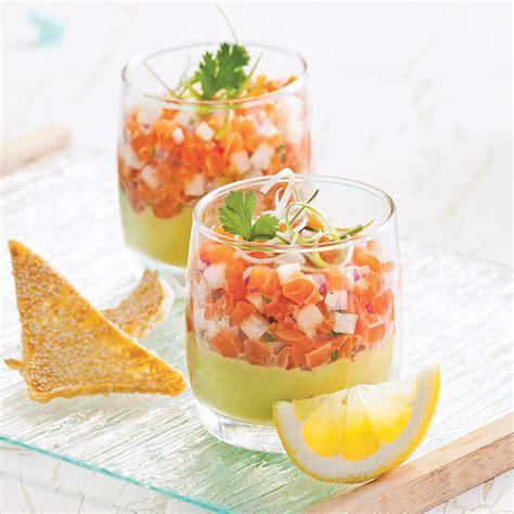 huile de sesame en cuisine tartare de saumon à l 39 asiatique en verrine recettes