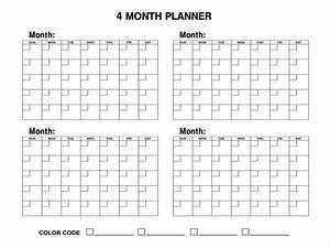 four month per page calendar template autos post With calendar template 4 months per page