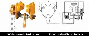 Manual Trolley Chain Hoist 2 Ton  Electric Chain Hoist