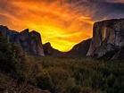 Sunset In Yosemite National Park United States Landscape ...
