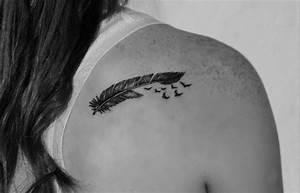 Tatouage Plume Indienne Signification : tatouage plume signification interpr tations et dessins en 40 images ~ Melissatoandfro.com Idées de Décoration