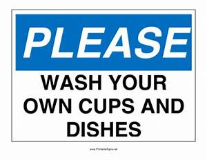 View 297 Clean Your Dishes Sign | WSOURCE