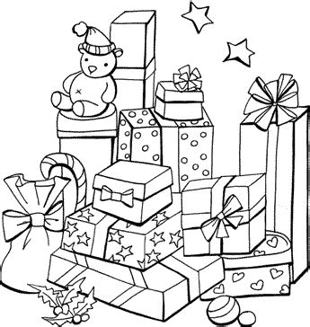 christmas gifts colouring pages to print for free