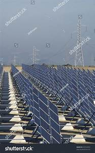 Huge Solar Station High Tension Tower Stock Photo 45254392 ...