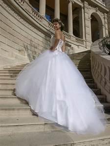 robe de mariee princesse jupe en tulle lisse et bustier With robe de cocktail combiné avec fée clochette swarovski pas cher