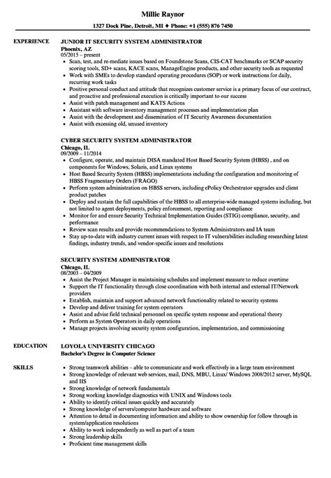 System Administrator Resume by System Administrator Resume 3 Years Experience Sle Resu