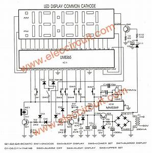 Lm8365 Digital Clock Circuit Board