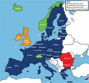 Difference Between Schengen Countries and EU Countries ...