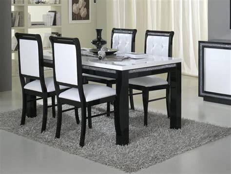 chaise salle a manger noir chaise de salle à manger design et blanche lot de 2