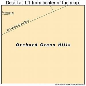 Orchard Grass Hills Kentucky Street Map 2158200
