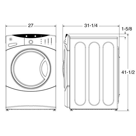 washer dryer sizes standard dimension of washer and dryer search