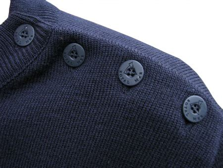 navy blue wool breton sweater  men women