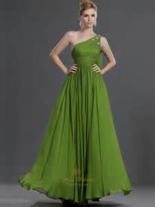 bridesmaid dresses green apple green one shoulder chiffon bridesmaid dress with beaded detail dress