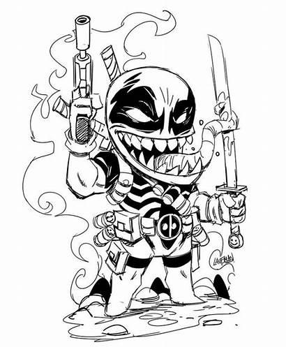 Venompool Venom Deadpool Coloring Laufman Derek Kickstarter