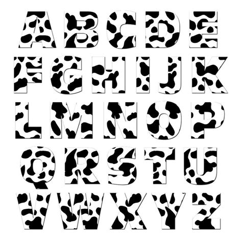 alphabet letters uppercase cow print mag neato s refrigerator magnet set ebay
