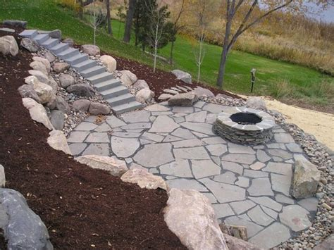 rock patio ideas natural stone patios this natural stone patio has concre