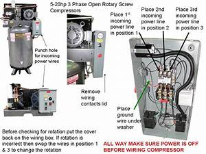 How To Wire 5hp Air Compressor Single Phase 220v Motor To