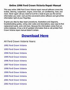 1996 Ford Crown Victoria Repair Manual Online By Sajib