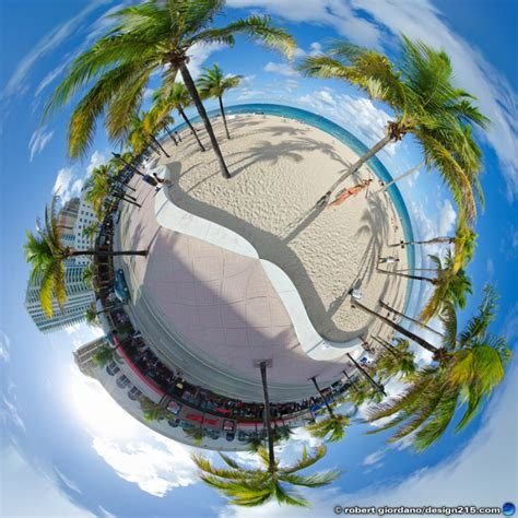 fort lauderdale beach  panorama conceptual photography