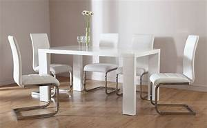 Stockholm & Perth White High Gloss Dining Table & 4 6