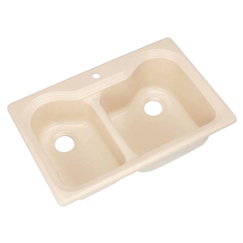 thermocast kitchen sinks cleaning thermocast breckenridge drop in acrylic 33 in 1