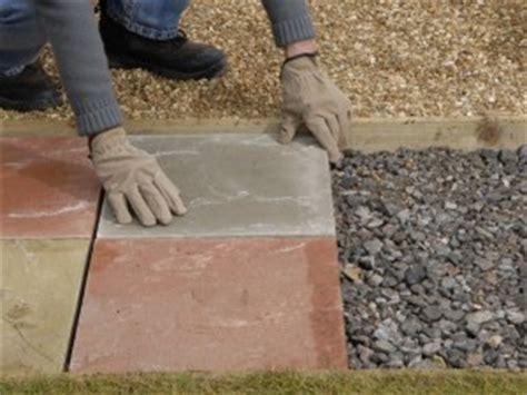 laying  paving slab path