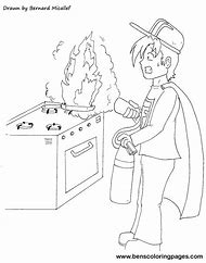 Kitchen Fire Safety Coloring Pages