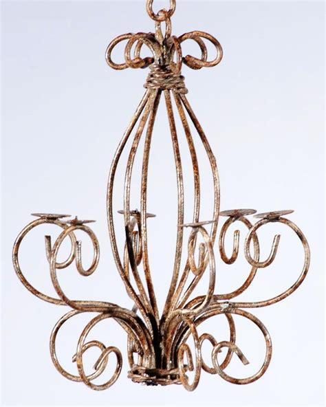 wrought iron small country chandelier