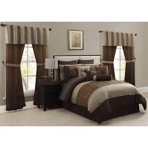 mcleland amari 30 piece queen comforter bedroom set browns
