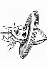 Sombrero Coloring Drawing Getdrawings Printable Pages Getcolorings sketch template