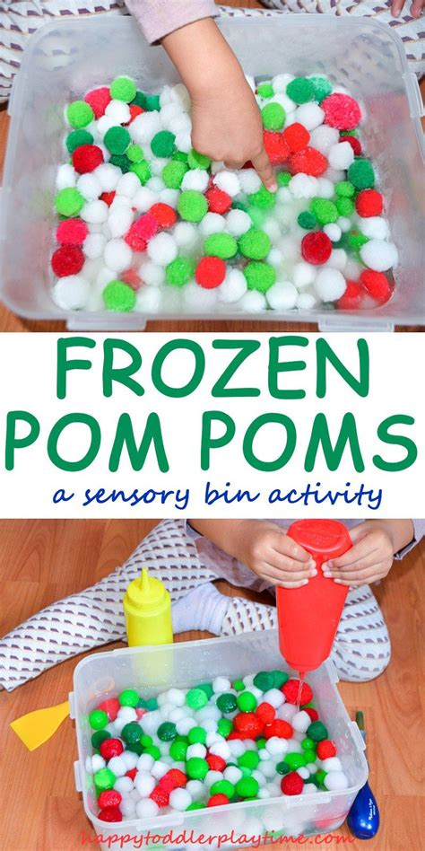 frozen pom poms projects for the toddlers sensory 661 | 922051e985d9e99d69c5033cd3302634