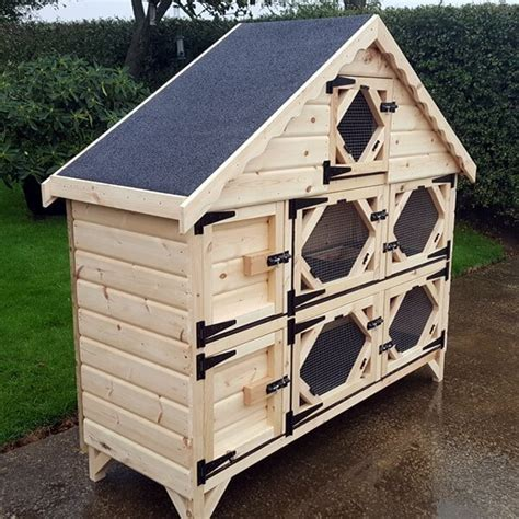 hutch company number 6ft wide deluxe rabbit hutch ryedale pet homes