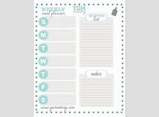 YUMeating #free #printable meal planner Organizing Ideas