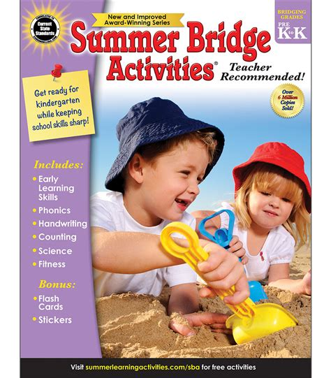 learning bridge preschool summer bridge activities 174 workbook grade pk k 274