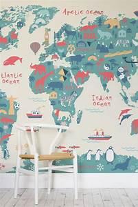 Tapete Weltkarte Kinderzimmer : papel de parede infantil ~ Sanjose-hotels-ca.com Haus und Dekorationen