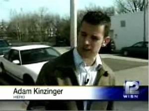 Adam Kinzinger saves woman's life/Milwaukee TV report ...