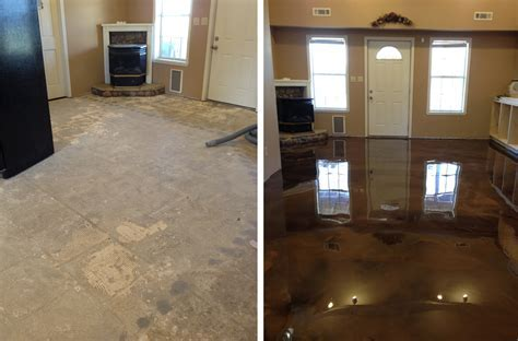 Reflection Enhanced Epoxy Concrete System Before and After