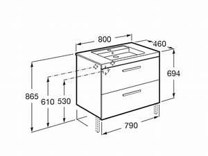 mueble de bano lavabo roca prisma 2cajones 80cm fresno With medidas muebles bano