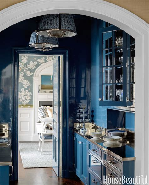 Blue Butlers Pantry   Transitional   Kitchen   House Beautiful